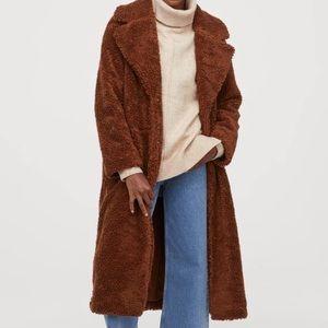 Long H&M teddy coat